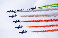 Luftteam-Flugshow Lizenzfreies Stockbild