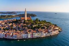 Lufttrieb von Rovinj, Kroatien Stockfoto