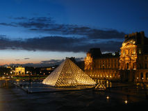 luftventil för 05 france över den paris skymningen Royaltyfri Foto