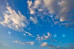 Luftverkehrslinie Lizenzfreies Stockfoto