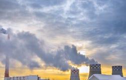 Luftverschmutzung der Industrie stockfoto