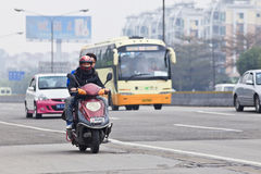 Luftverschmutzung in Guangzhou-Mitte, China lizenzfreies stockfoto