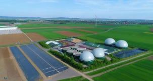 Luftvideo der Biogasanlage E stock video footage