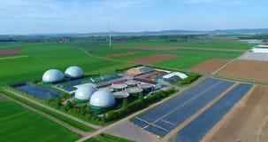 Luftvideo der Biogasanlage E stock video