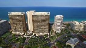 Luftvideo von Bal Harbour FL stock footage