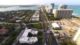 Luftvideo von Bal Harbour Florida 2 stock video