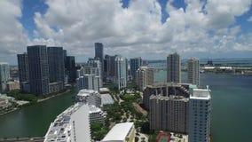 Luftvideo von Brickell-Schlüssel Miami stock video footage