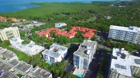 Luftvideo von Nachbarschaften Key Biscayne Florida stock video footage