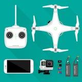 Luftvideography-/Fotografieausrüstung Stockfotos