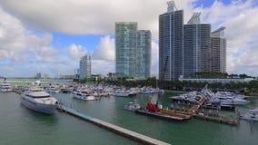 Luftvideomiami beach-Jachthafen 4k stock footage