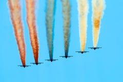 Luftwaffe auf Militärparade. Stockfotografie
