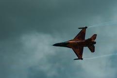 Luftwaffe der Niederlande F-16 Demo Team bei RAF Fairford stockfotos