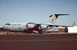 Luftwaffe Vereinigter Staaten C-17A Globemaster III 96-0004 stockfotografie