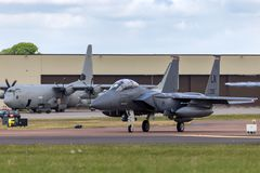 Luftwaffe Vereinigter Staaten Streik Eagle 91-0335 vom 494. Jagdgeschwader, 48. Kämpfer-Flügel U.S.A.F. McDonnell Douglas F-15E stockfotos