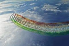 Luftwaffenteam Frecce Tricolori Lizenzfreie Stockfotos