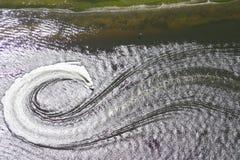Luftwasserskifahren Stockfotografie