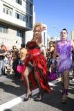 Luftwiderstand-Königin auf der homosexuellen Parade in Sao-Paulo Stockbilder
