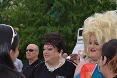 Luftwiderstand-Königinnen an der Stolz-Parade Stockbild