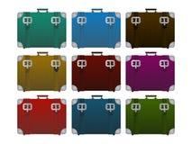 Lugages, suitcase set Stock Photos