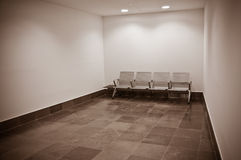 Lugagge  room. The new International Airport Terminal in Gibraltar Stock Image