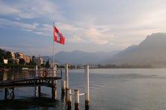 Lugano-Швейцария Стоковые Изображения RF