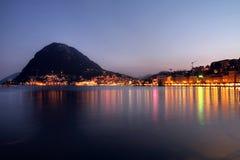 Lugano, Швейцария Стоковое Изображение RF