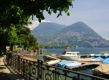 Lugano stockfotografie