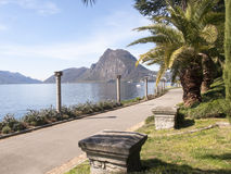 Lugano, ancient columns Stock Image