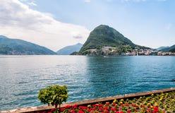 Lugano, Ansicht des Golfs Stockbild