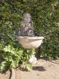 Lugano, Artistic fountain in the communal garden of Castagnola Stock Photography
