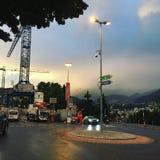 Lugano-Bahnstation Stockfoto