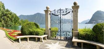 Lugano, Ciani-Park Royalty-vrije Stock Fotografie