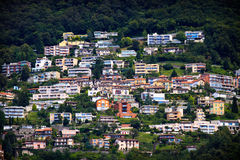 Lugano city hoses Royalty Free Stock Photos
