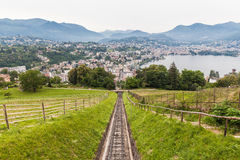 Lugano city and lake stock images