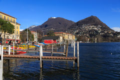 Lugano city Stock Images