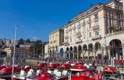 Lugano city waterfront, Switzerland Royalty Free Stock Photography