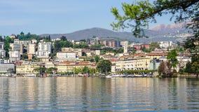 Lugano en Suiza Fotos de archivo