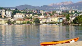 Lugano en Suiza Imagenes de archivo