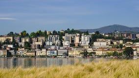 Lugano en Suiza Foto de archivo libre de regalías