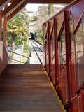Lugano, Funicular dla wspinaczki Monte bre Zdjęcia Stock