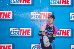 Lugano, Italia 27 May 2015; Modolo on the podium Royalty Free Stock Photo