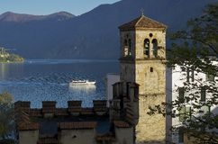 Lugano jezioro Zdjęcie Stock