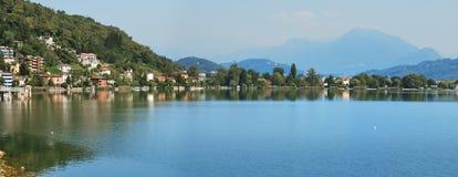 Lugano jezioro Zdjęcia Stock