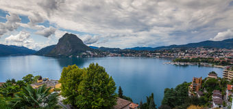 Lugano jezioro Fotografia Stock
