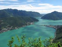 Lugano - la Svizzera Fotografie Stock Libere da Diritti