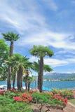 Lugano, lago di Lugano, cantone del Ticino, Svizzera Immagini Stock