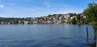 Lugano - lago Lugano, Lugano, Ticino, Suíça, Europa Fotos de Stock