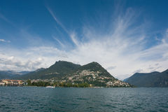Lugano lake Royalty Free Stock Photos