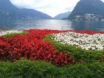 Lugano lake Royalty Free Stock Images