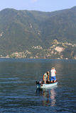 Lugano lake fishing Stock Photos
